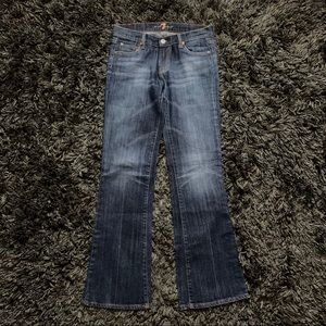 7 For All Mankind Bootcut Denim Jeans Size 26 7FAM